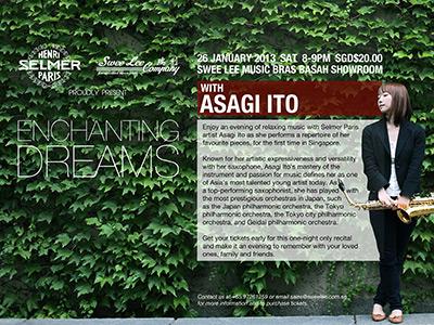 2013年1月26日 伊藤あさぎサクソフォンリサイタル シンガポール公演