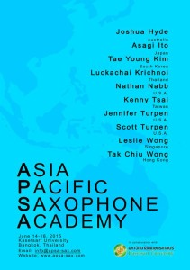 Asia Pacific Saxophone Academy 2015
